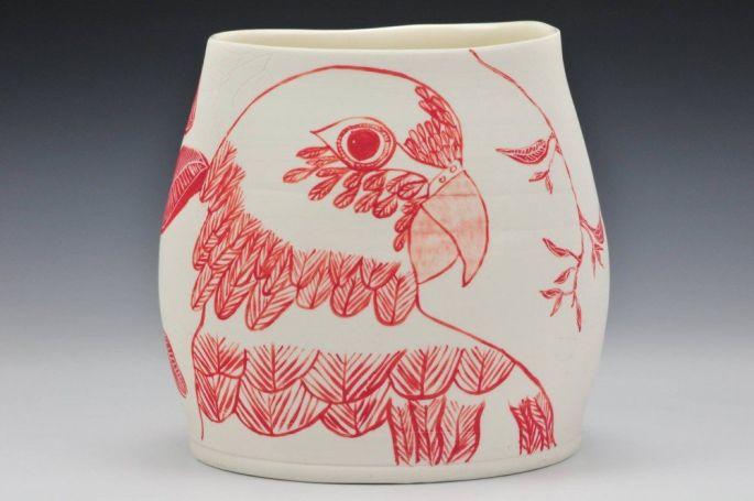 'Lorikeet' vase - altered rim (image credit Charlie Cummings Gallery)