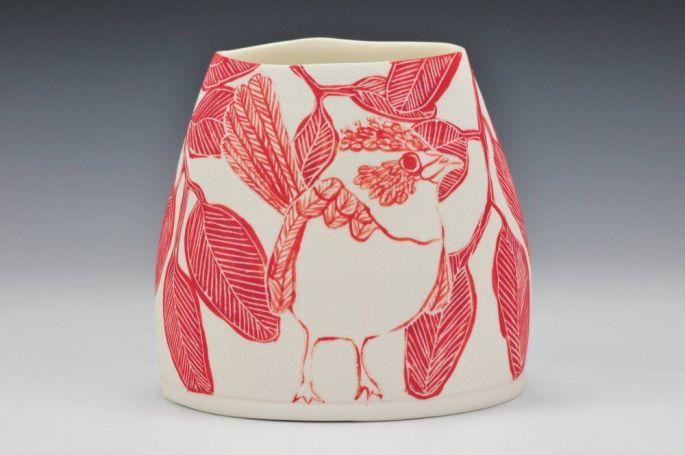 'Superb Fairy Wren' vase,altered rim (image credit Charlie Cummings Gallery )