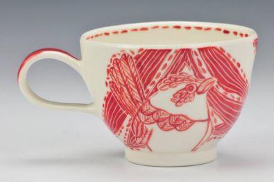 'Superb fairy wren' Porcelain teacup