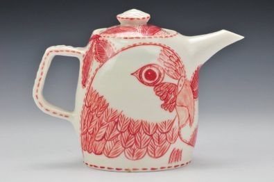 Porcelain 'Lorikeet' Teapot (image credit Charlie Cummings Gallery )