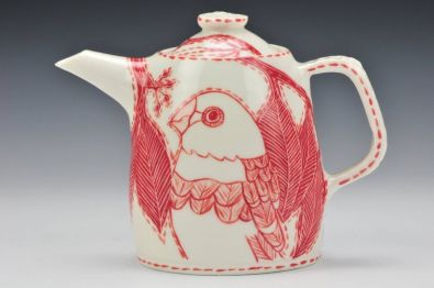 Porcelain 'Diamond Firetail' Teapot (image credit Charlie Cummings Gallery )