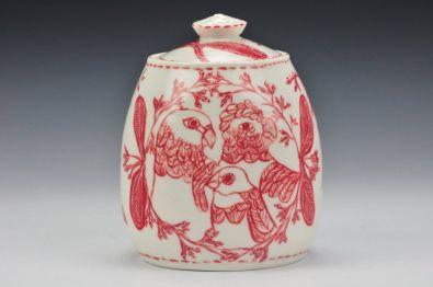 'Three Birds' Lidded Jar -(image credit Charlie Cummings Galllery)