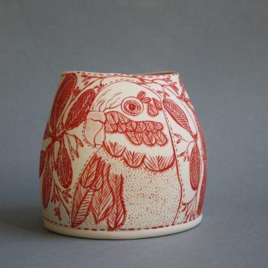 'Lorikeet' 2017 Manningham Victorian Ceramic Art award -FInalist