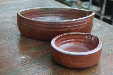 'Shino' oval baking dish & ramekin